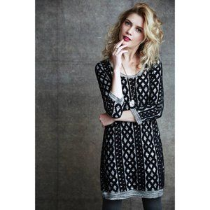 [Anthropologie] Geometric Textured Sweater Dress